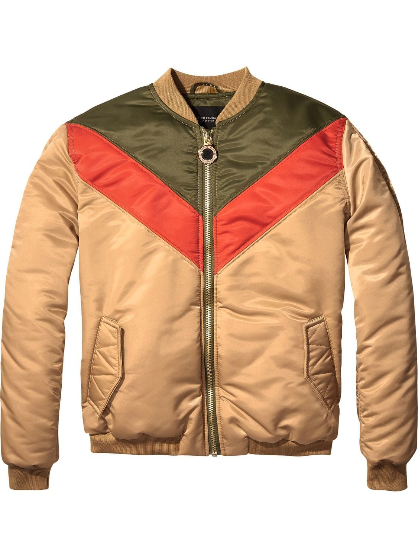 aa76304ed Colour Block Bomber Jacket   Autumn 17   Padded jacket, Clothes for ...