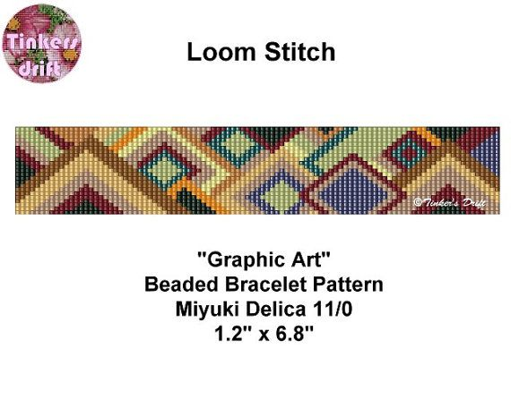 Graphic Art Loom Beaded Bracelet Pattern                                                                                                                                                                                 More