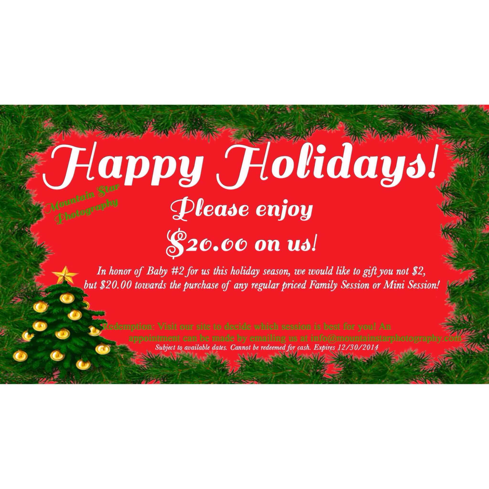Freebie Gift Certificate! Holiday El paso photographer christmas ...