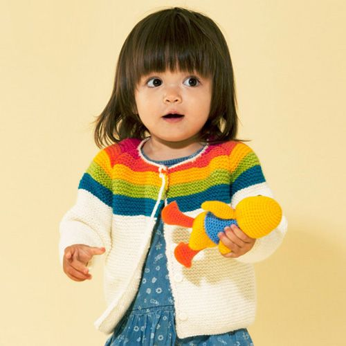 We Like Knitting Rainbow Cardigan Downloadable Pdf Kinder