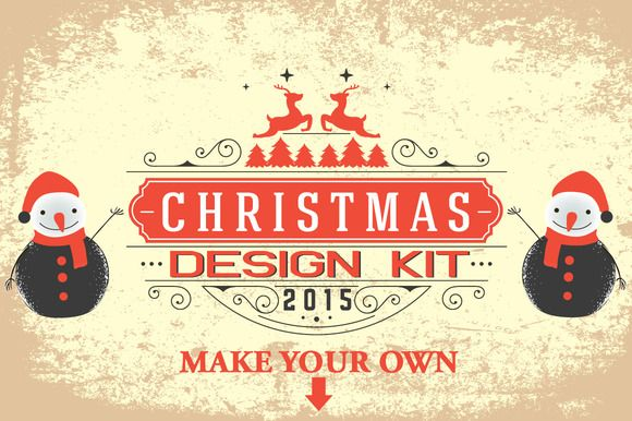 Christmas Design Kit by Arys Design on Creative Market