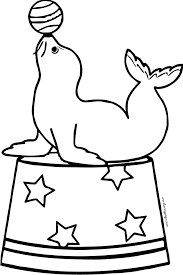 Seal Balancing Ball On Nose Coloring Page Google Search Lion Coloring Pages Coloring Pages Train Coloring Pages