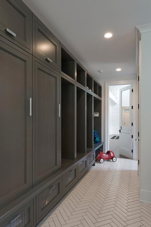 White Herringbone Tiles Laundry Rooms Amp Mudrooms