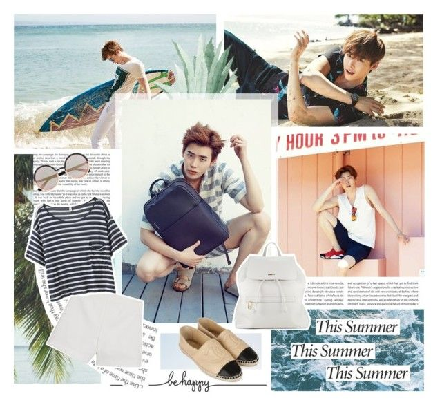 """Be Happy This Summer"" by creamynoir ❤ liked on Polyvore featuring Oris, Haze, Marc by Marc Jacobs, DKNY, MANGO, R13, Chanel, Summer, bts and leejongsuk"