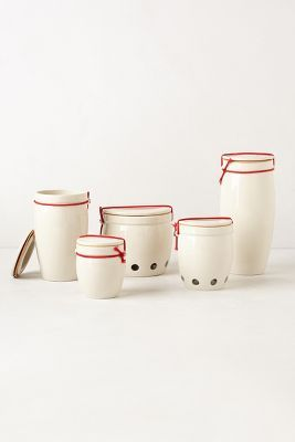 Banded Ceramic Canister (on sale!)