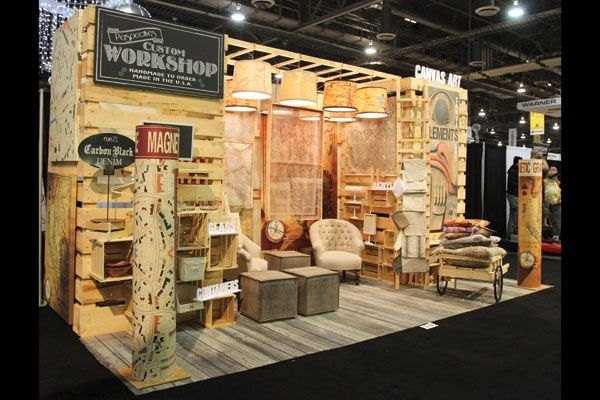 repurposed palettes custom workshop trade show booth design - Photo Booth Design Ideas