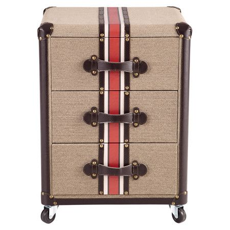 Brimming With Well Traveled Style, This Suitcase Inspired Wood End Table  Showcases 3
