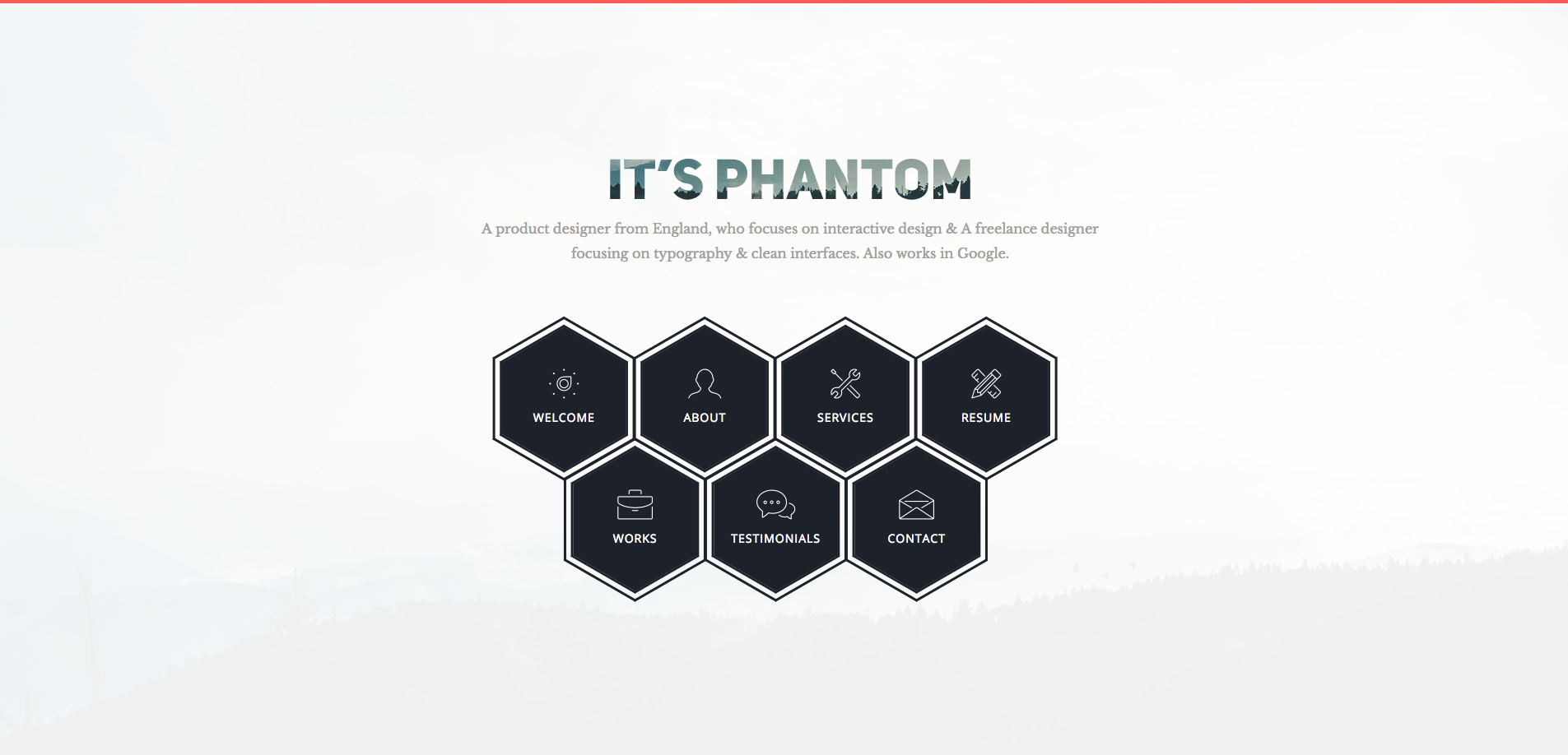 Phantom Bootstrap Portfolio Template The Template Is Clean