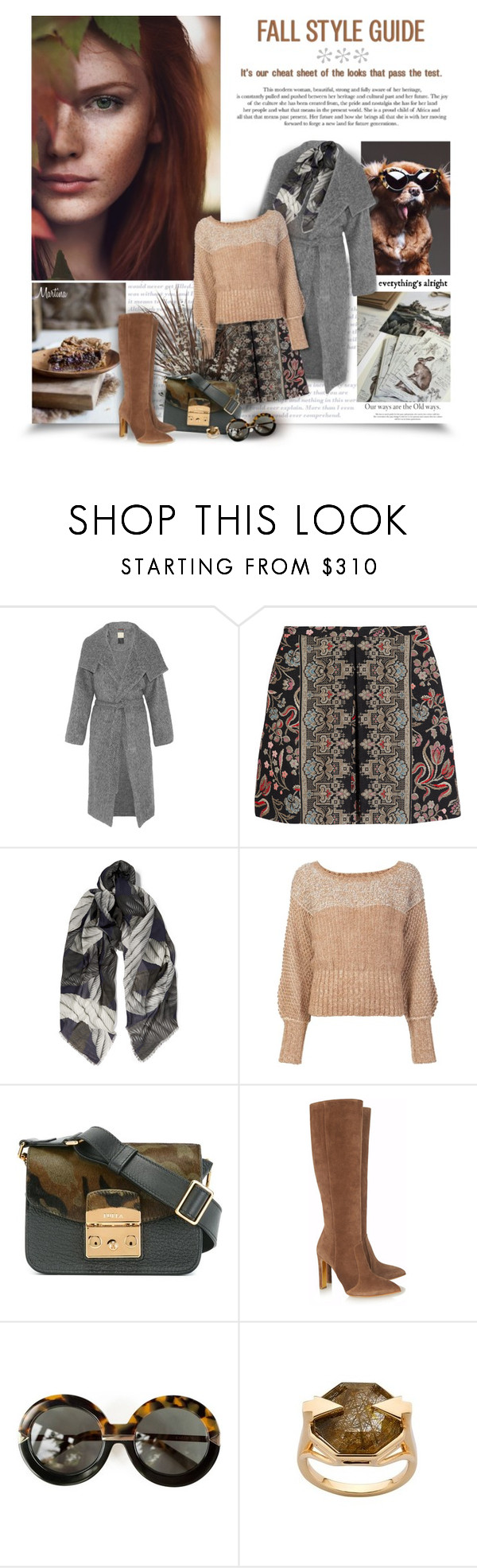 """Autumn Is A Second Spring Where Every Leaf is A Flower"" by thewondersoffashion ❤ liked on Polyvore featuring Karen Walker, By Malene Birger, Valentino, Christopher Kane, Rachel Comey, Furla and Rupert Sanderson"