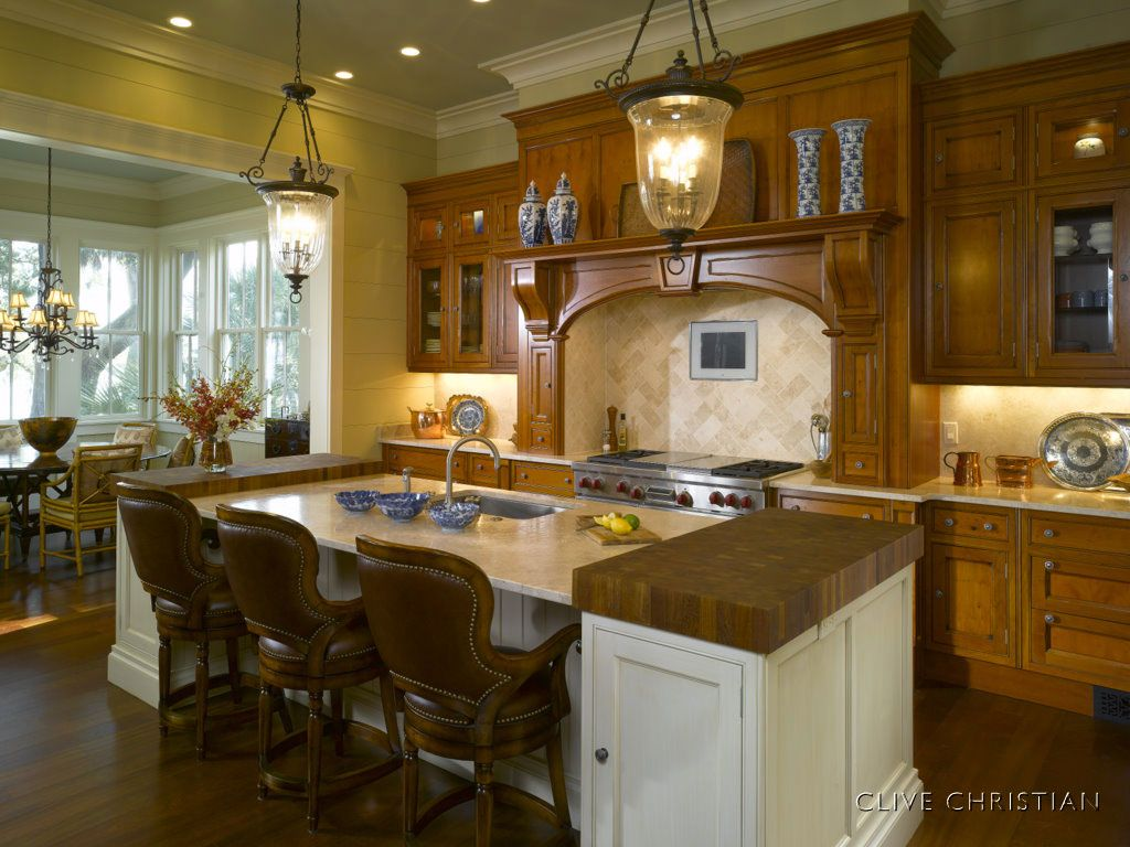 Clive Christian Edwardian Kitchen in Antique Yew & Ivory | Home ...