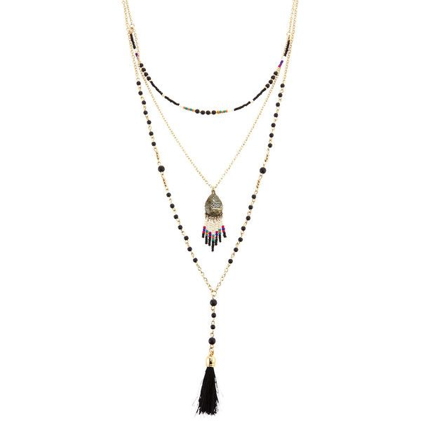 Panacea Multi-Bead & Pendant Layered Necklace YM2ZvLX3xM