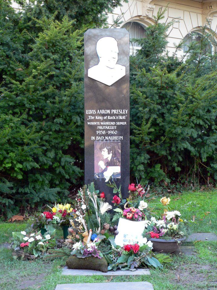 Elvis Memorial Next To Grunewald Hotel Near Presley Platz Bad Nauheim Germany