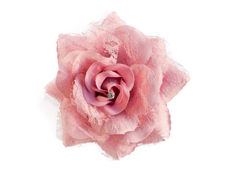 Schöne rosane Blume. Zauberhaft als Haarschmuck oder Anstecker zu Verwenden. #brautmode #blumen #ansteckblume #haarblume