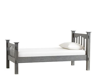 Kendall Twin Bed And Classic Mattress Brushed Charcoal Wb