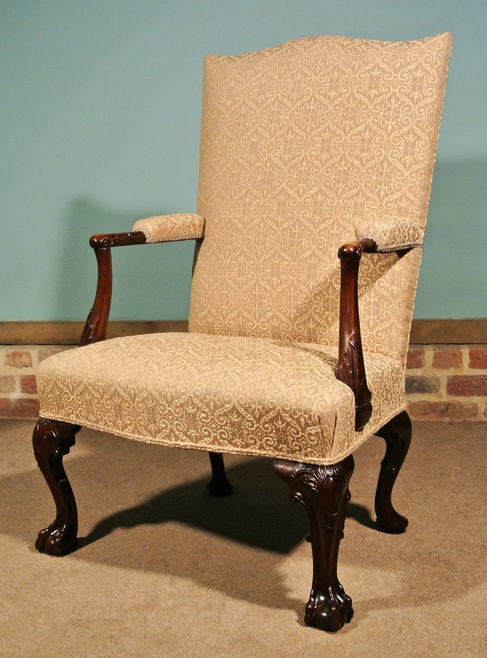 gentlemans chair used banquet chairs for sale finest george ii mahogany in 2019 antique antiques atlas