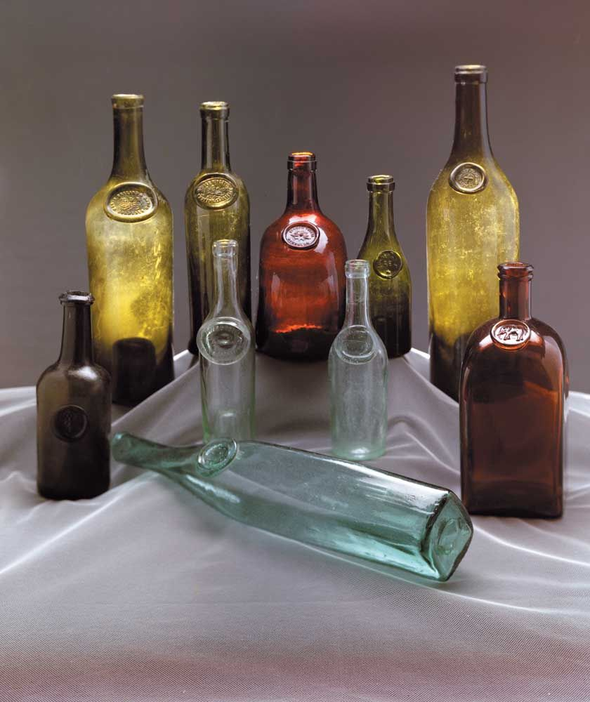 Dating early wine bottles