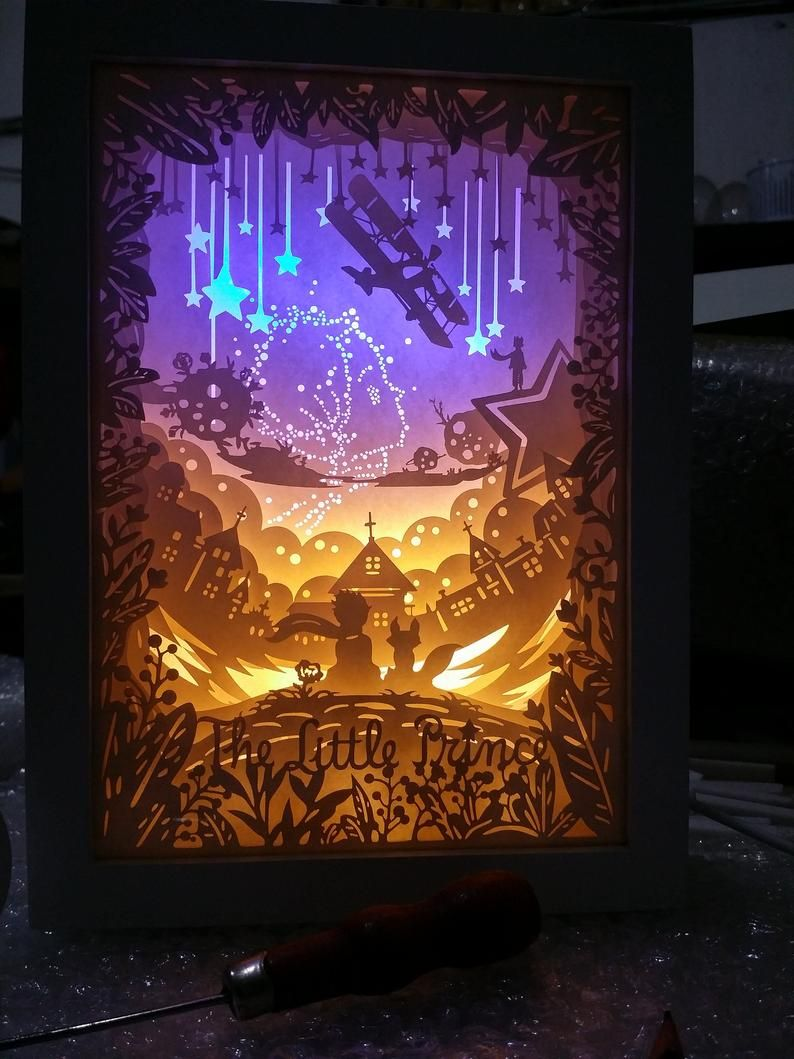 Light boxes etsy in 2020 shadow box art paper carving