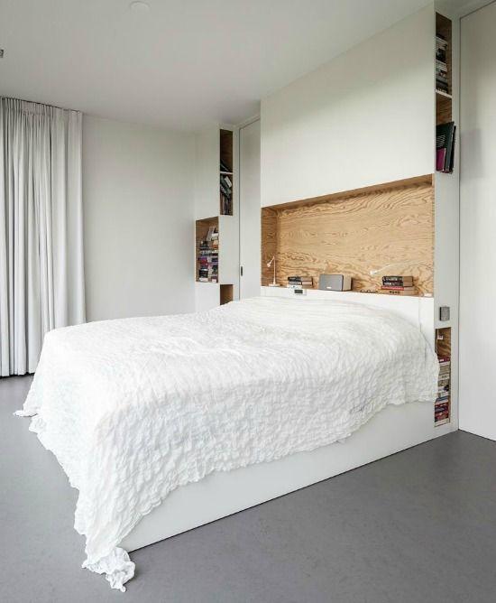 Afbeeldingsresultaat voor Bed hoofdeinde kast Slaapkamer ideën