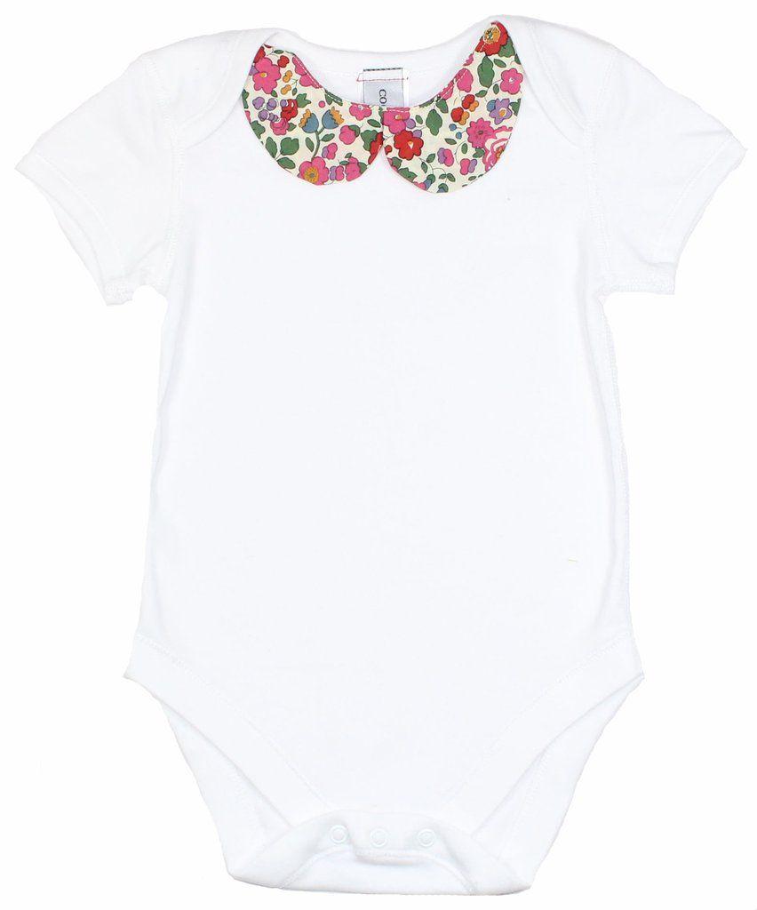 new handmade newborn shirt Baby liberty claudine collar blouse