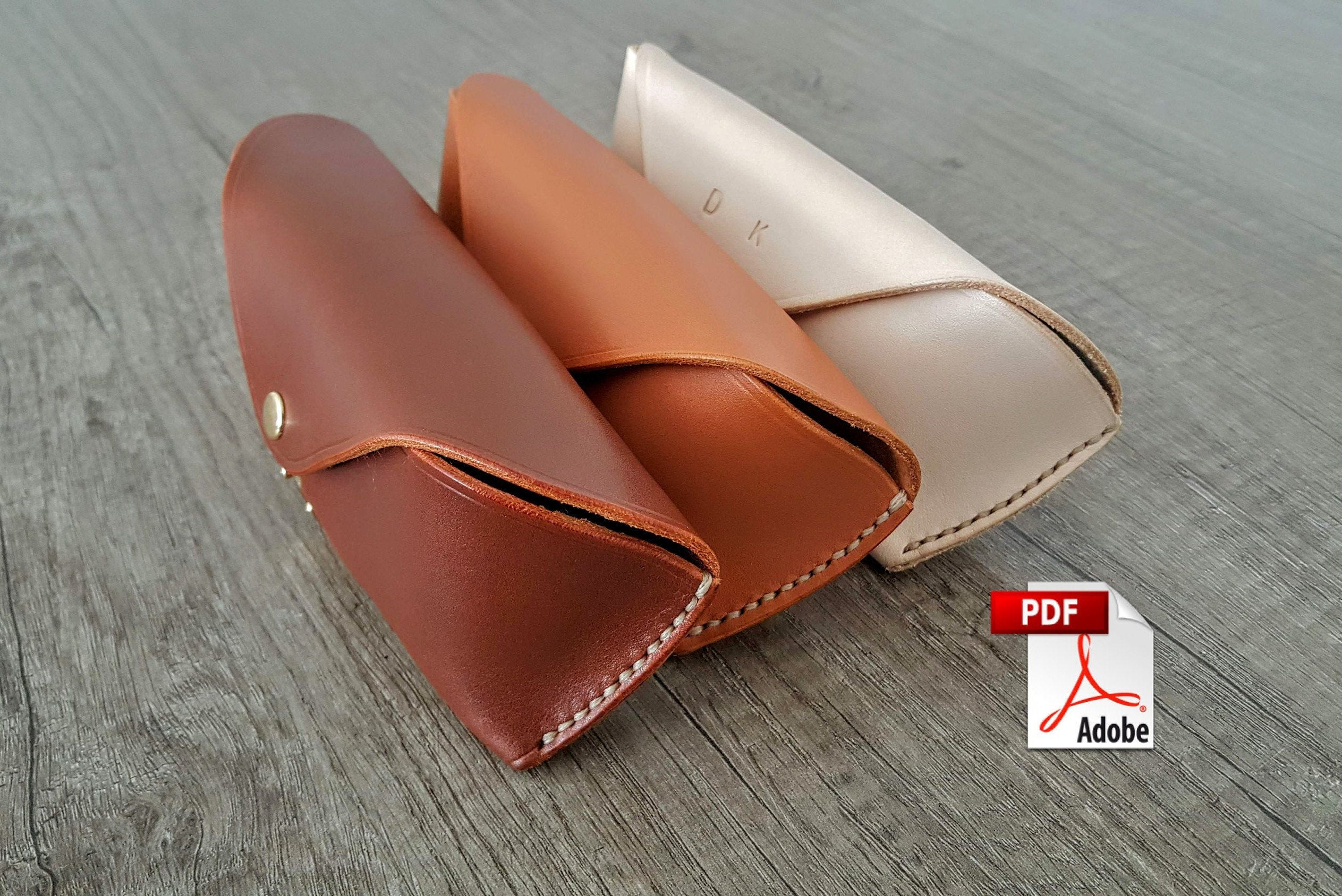 Leather Glasses Case pattern PDF