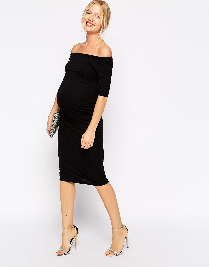 Maternity bardot dress with half sleeve bardot dress asos image 4 of asos maternity bardot dress with half sleeve ombrellifo Gallery