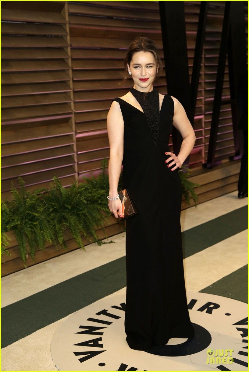 Emilia Clarke at the Vanity Fair Oscars Party after the ...