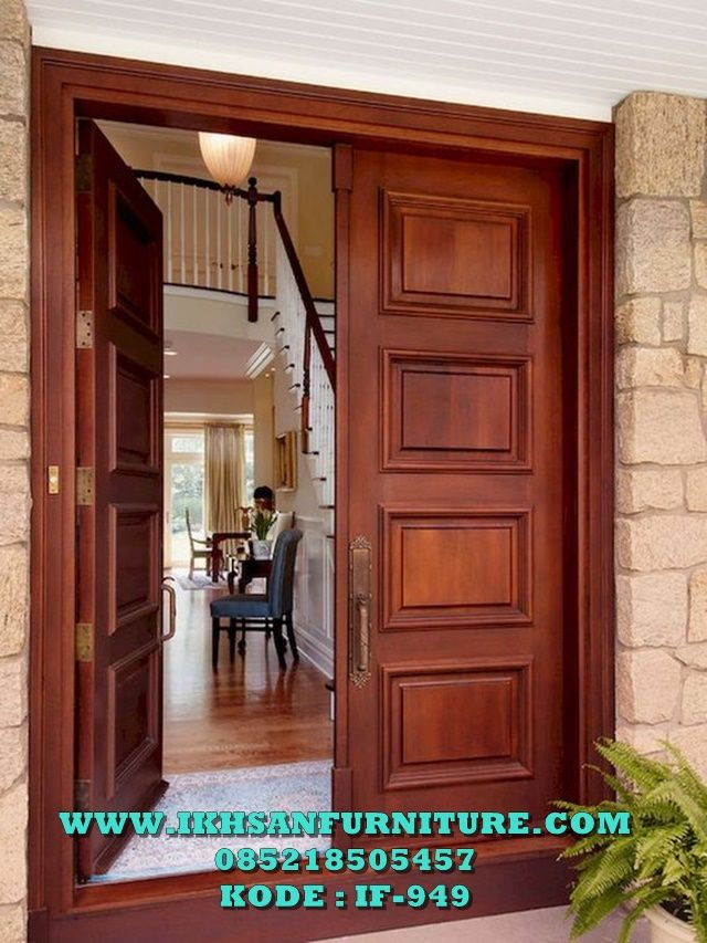 Contoh Pintu Rumah Minimalis Modern Kayu Jati Contoh Pintu ...