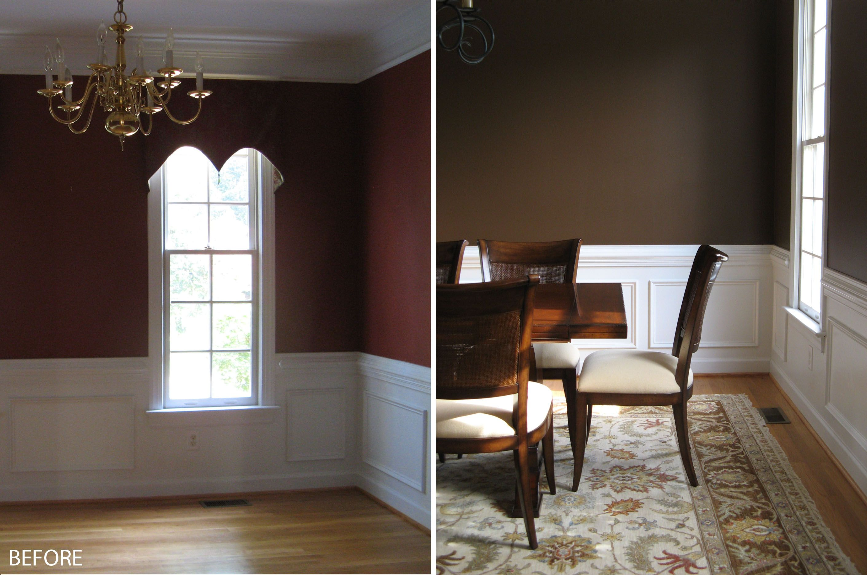 The dining room wall painting ideas above is used allow for Brown paint ideas for living room