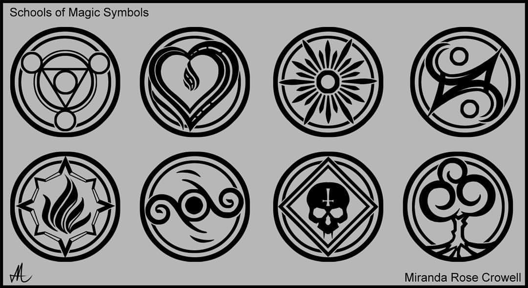Revisiting My Fantasy Realm With Some Graphic Art Symbols For The 8