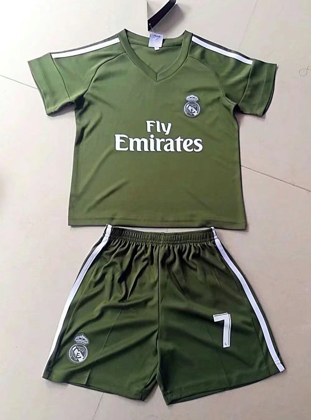 newest 83e98 2488b 2017/2018 Kids Real Madrid Soccer Jersey Uniforms Green ...