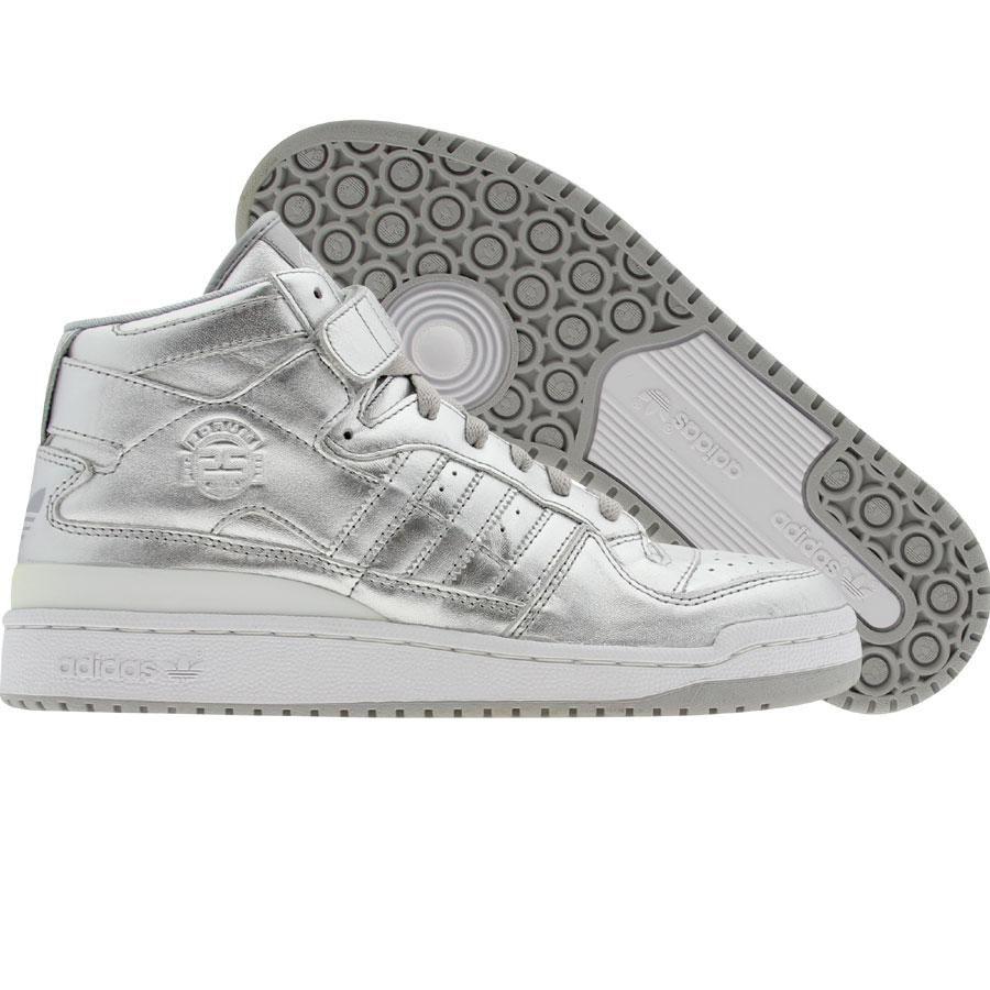 on sale 61aaf fc3c1 Adidas Forum Mid (metallic silver   metallic silver   runwht) 160444 -   149.99