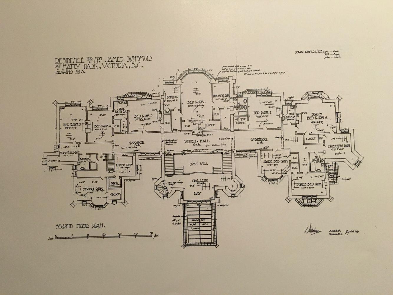 Hatley Castle 2nd Floor Architectural Floor Plans Castle Floor Plan Hatley Castle
