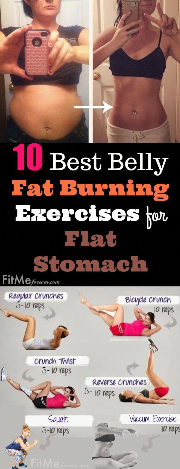 10 Best Belly Fat Burning Exercises for Flat Stomach: Vacuum Stomach Exercise, Lunges Belly Fat Exer...