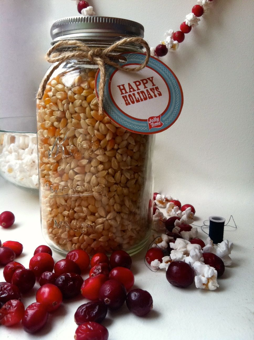 JOLLY TIME Pop Corn Mason jar labels and gift ideas ...