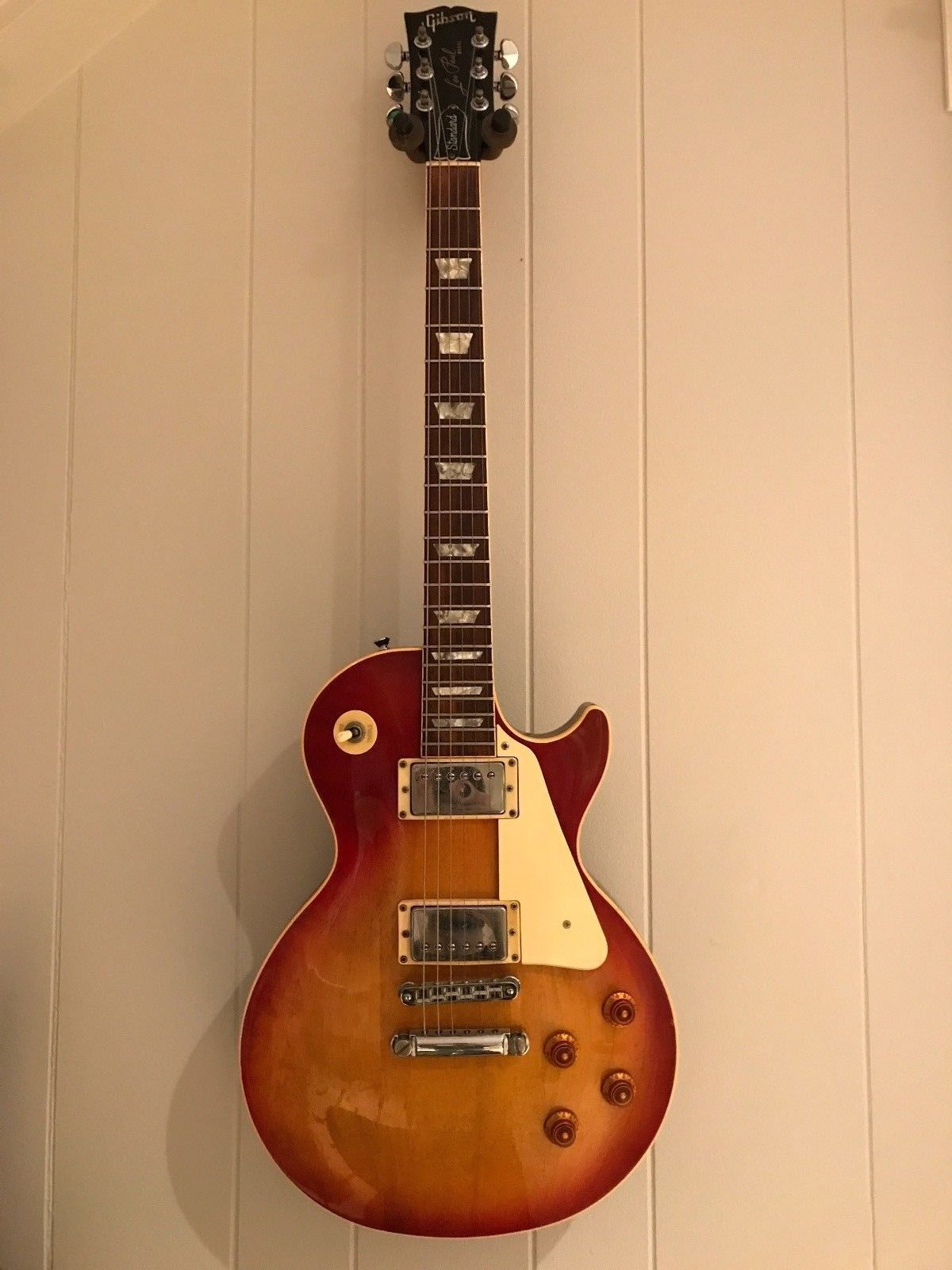 vintage gibson les paul standard 1986 sunburst electric guitar