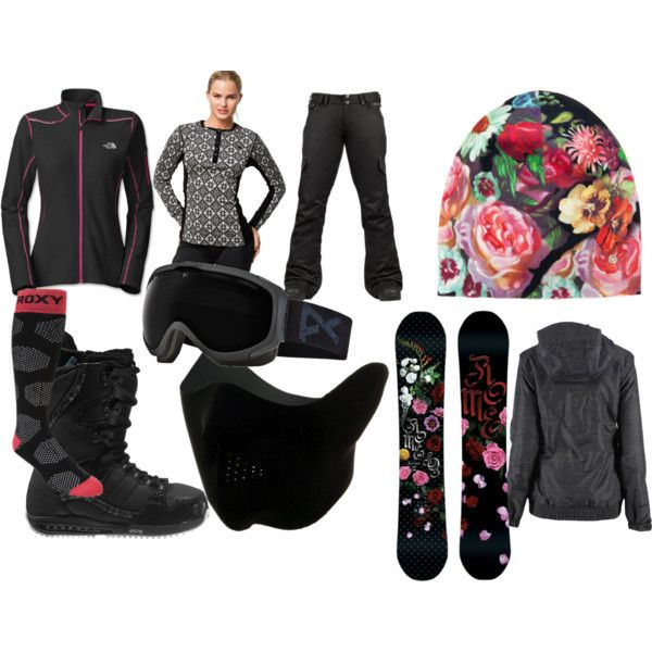"""""""snowboarding outfit"""" by metalmonkeyis on Polyvore"""