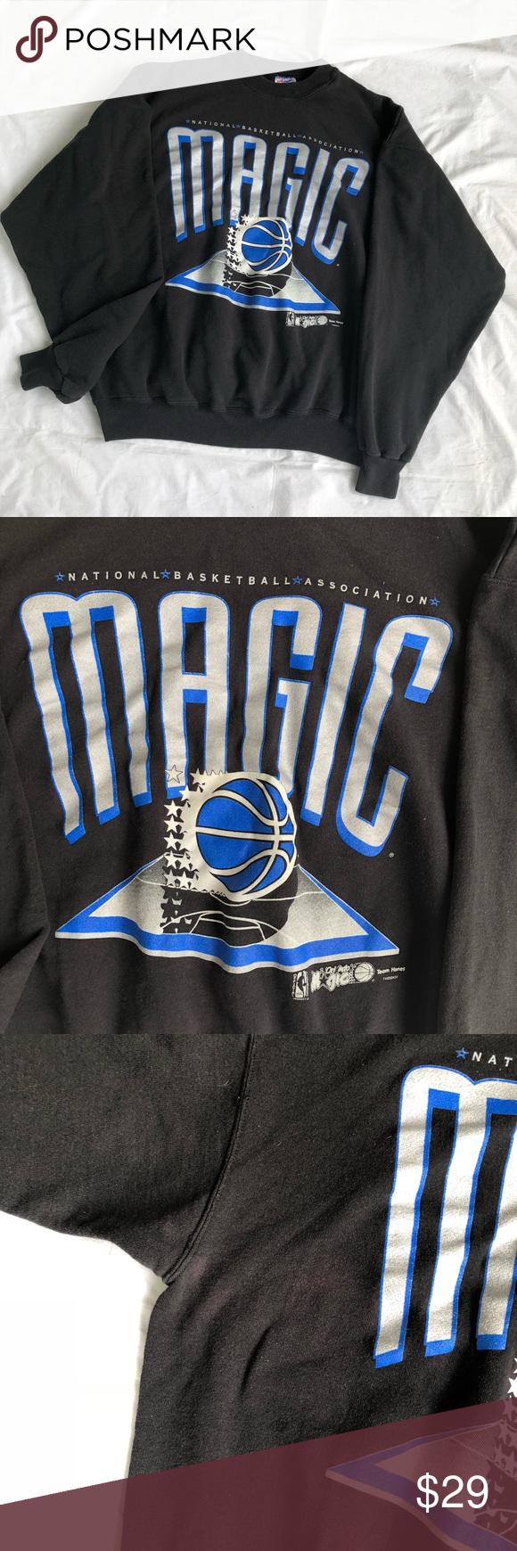 Vintage Nba Orlando Magic 3d Logo Crewneck Vintage Sweaters Clothes Design Fashion Design