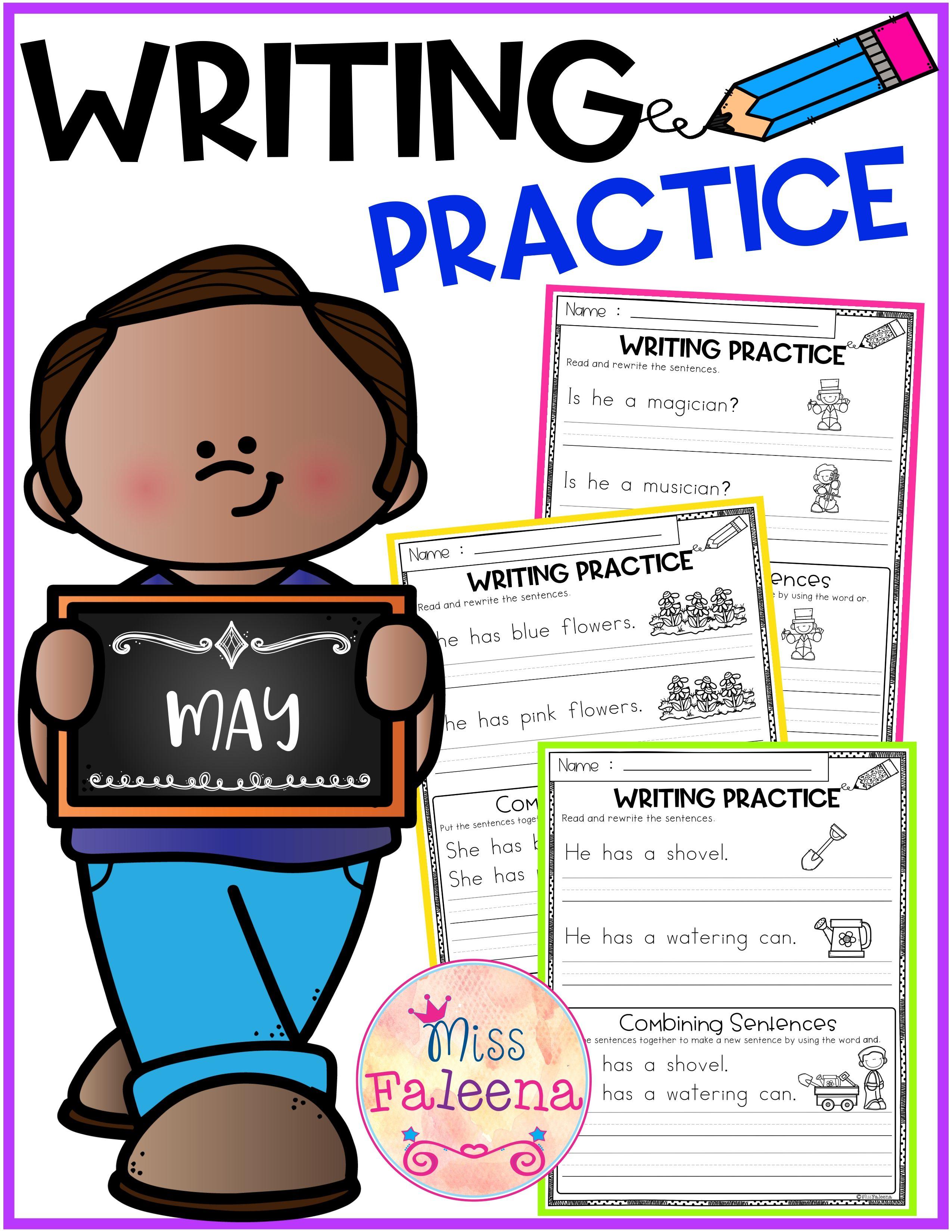 May Writing Practice Combining Sentences