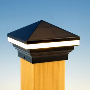 New saturn and iris led post cap light by aurora deck lighting new iris led post cap light by aurora deck lighting aloadofball Image collections