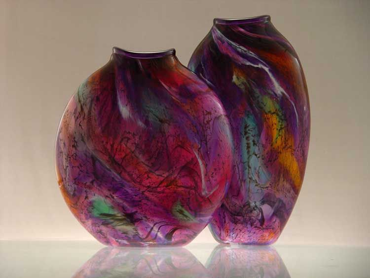 Lachausse Vases Range Purple Tall And Wide Relic