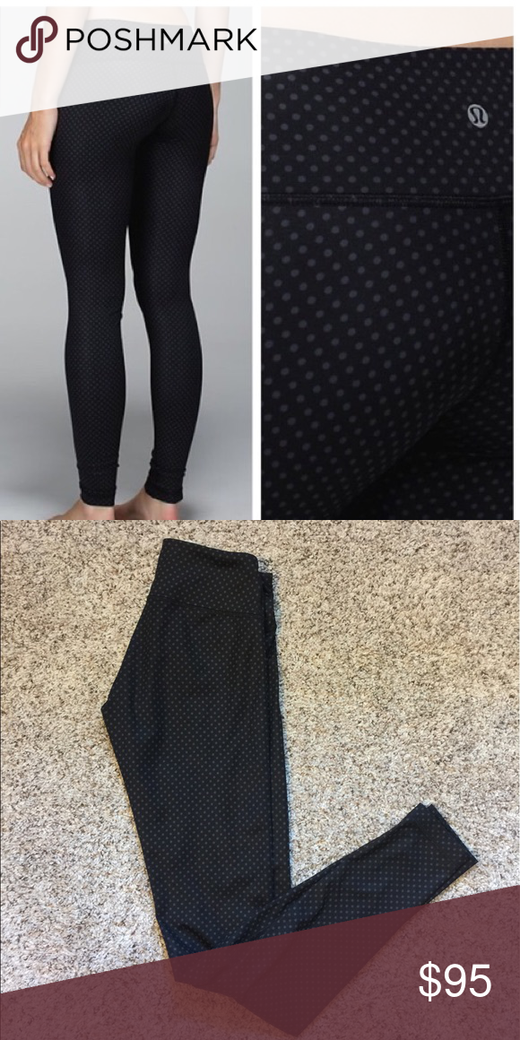 216faad5d16db8 Black and grey. In great condition only worn a couple of times. Size 4. Low  rise full length lululemon athletica Pants Leggings