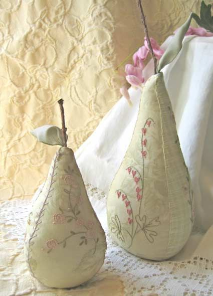 Sweet Pear Pincushions  Crab Apple Hill Patterns