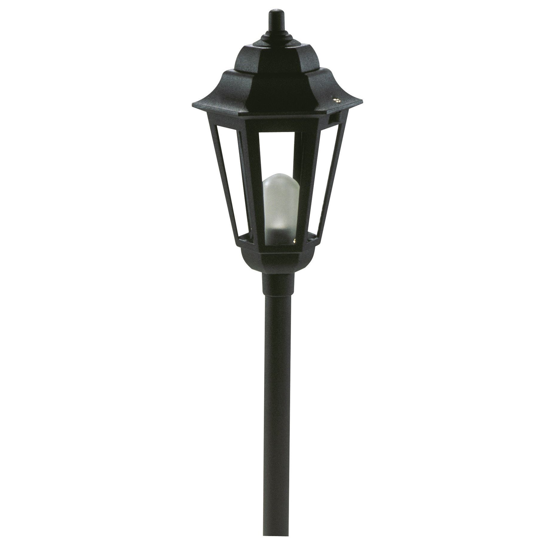 Paradise Gl22768bk 12 Volt Black Savannah Style Path Light Outdoor Lighting Glass Outdoor Path Lighting Path Lights Post Lights