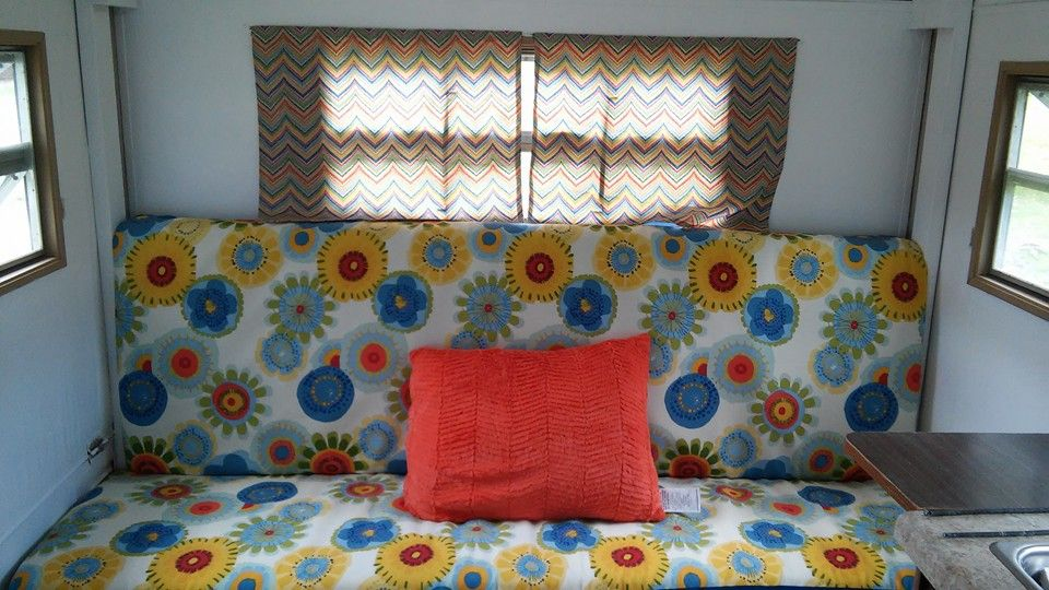 Cushions And Curtains. I Picked Up The Orange Pillow From Dollar General.  Itu0027s So