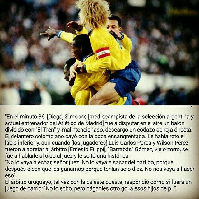 """Una de las tantas historias que dejó el 5 a 0 de Colombia a Argentina hoy hace 23 años. Sacada del libro """"5 a 0"""" de Mauricio Silva."""
