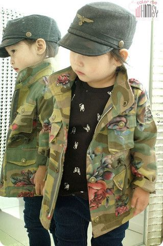 50dd8c1472c2e Camo and Roses Army Jacket for Happy Owl Tee for boys and girls. Cool kids  fashion at Color Me WHIMSY this fall season.