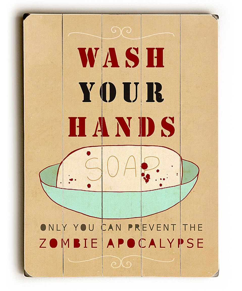 Look what I found on #zulily! \'Wash Your Hands\' Wall Art by ...