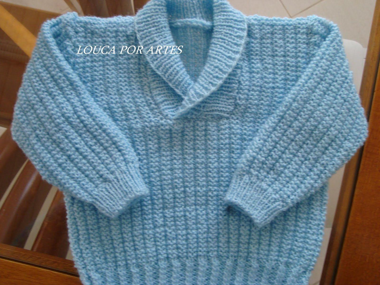 f582878f9d receita de tricô blusa masculina infantil