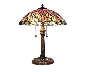 Lampada da tavolo stile Tiffany in vetro e metallo Greta - D 45 cm