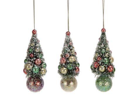 Fave 4 1 4 H Sisal Christmas Tree Ornament W Ball 3 Colors Wholesale Ornaments H Christmas Tree Ornaments Traditional Christmas Decorations Ornament Set